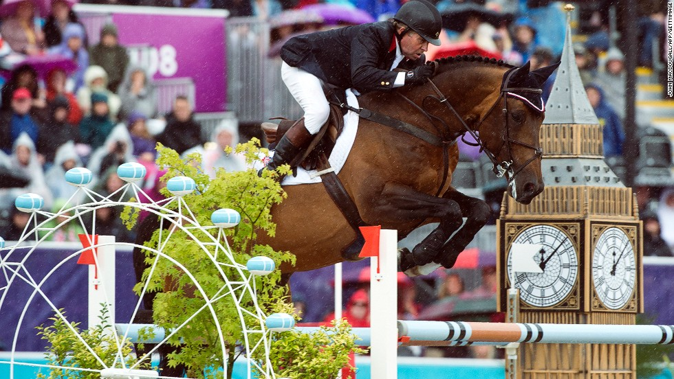 <strong>SHOW JUMPING</strong>: Probably the best known of all the disciplines, show jumping involves horses and their riders having to jump over a number of obstacles varying in difficulty, with penalties incurred for each one knocked down. Fences are often flanked by eye-catching decorations -- as seen here at the London 2012 Olympics.