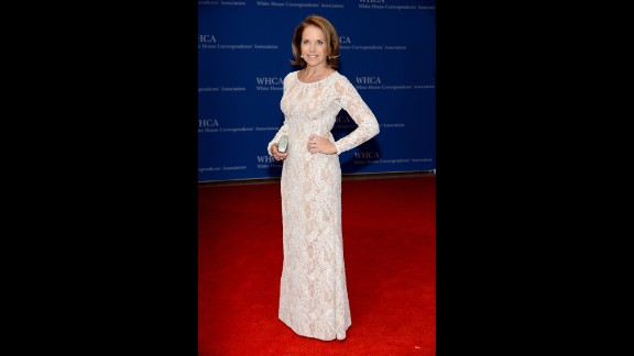 Katie Couric arrives for the White House Correspondents