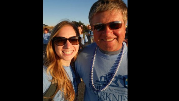 In June 2012, Schwantner and her parents traveled to San Francisco to participate in the American Foundation for Suicide Prevention's annual Out of the Darkness Overnight Walk, an 18-mile walk through the city.