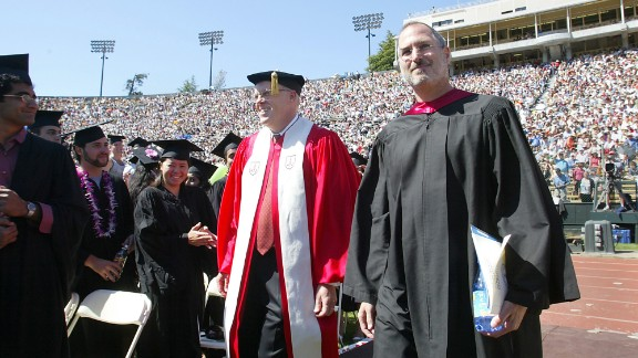 """Steve Jobs dropped out of Reed College after a few months but audited some creative classes, like calligraphy. At Stanford University's commencement ceremony on June 12, 2005, he told the audience, """"Your time is limited, so don't waste it living someone else's life. Don't be trapped by dogma, which is living with the results of other people's thinking. Don't let the noise of others' opinions drown out your own inner voice. And most important, have the courage to follow your heart and intuition."""""""