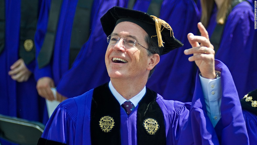 "Stephen Colbert, who studied philosophy and theater as an undergraduate, gave the commencement speech at Northwestern University on June 17, 2011. <a href=""http://www.northwestern.edu/newscenter/stories/2011/06/colbert-speech-text.html"" target=""_blank"">He said</a> of his major, ""I not only loved studying theater, I loved being a theater major. It gave me an excuse to brood, to grow a beard, to wear black 'at' people. I didn't just want to play Hamlet, I wanted to be Hamlet."""