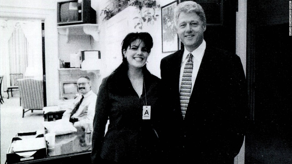Lewinsky poses for a photo with President Clinton in this image submitted as evidence by Starr's investigation and released by the House Judiciary Committee in September 1998.