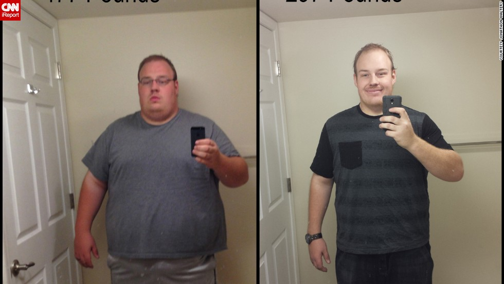 Despite a lifetime of being what he calls a quitter, Jonathon Walters stuck with a healthier lifestyle to lose 200 pounds in nine months. Read below for more of his story.