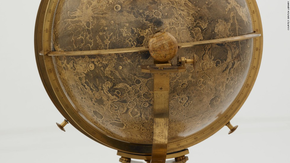 John Russell's moon globe from another angle.