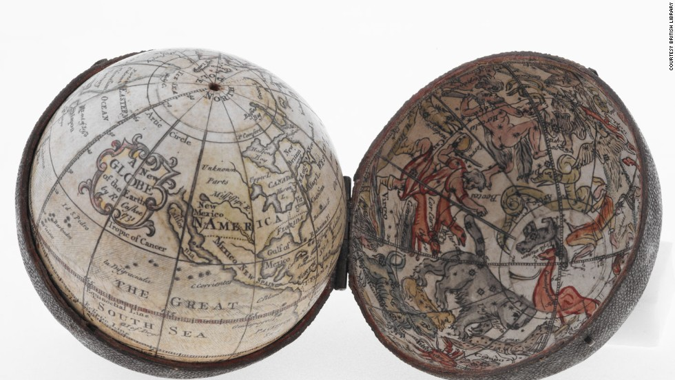 Another beautiful pocket globe, this one from 1731.