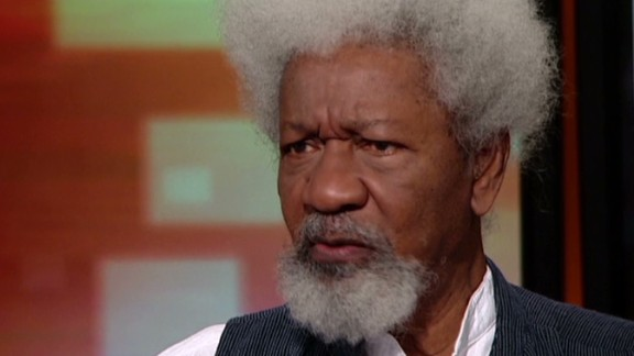 intv amanpour nigeria bring back our girls nobel author writer Wole Soyinka denial_00015613.jpg