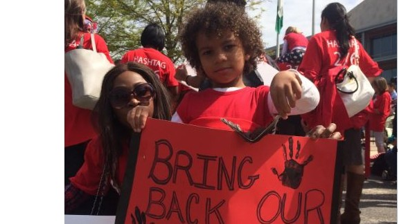 CNN's Burke Buckhorn captures this photo as more girls are missing in Nigeria.