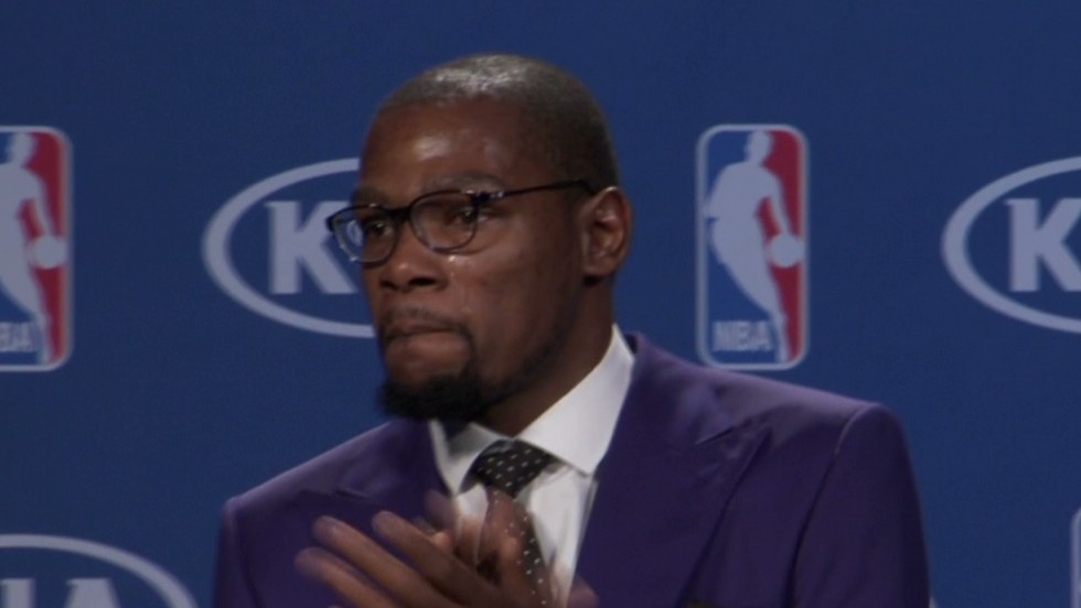 "In a speech that touched the hearts of millions, an emotional Kevin Durant of the Oklahoma City Thunder thanked his mother after he was named the NBA's MVP in May. ""You're the real MVP,"" he told her."