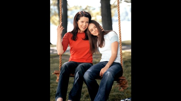 Lorelai Gilmore (Lauren Graham, left) may have been mother to Rory Gilmore (Alexis Bledel), but she wasn