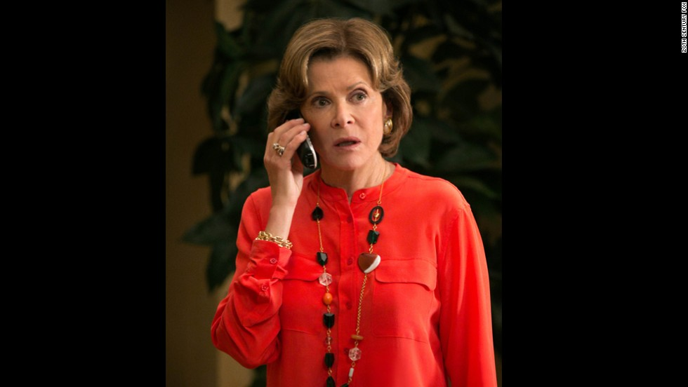 "Lucille Bluth (Jessica Walter) doesn't even try to hide her brittleness. The ""Arrested Development"" matriarch abuses underlings -- that would be almost everybody -- and has been known to enjoy a drink. Or several."