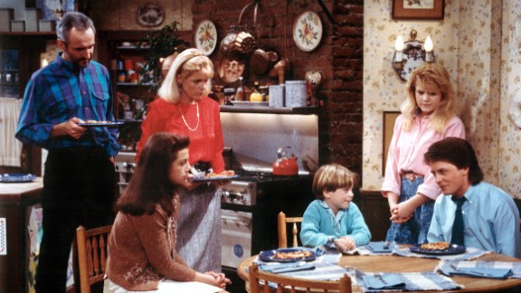 "In ""Family Ties,"" Elyse Keaton (Meredith Baxter, second from left) juggled life as an architect with a mother"