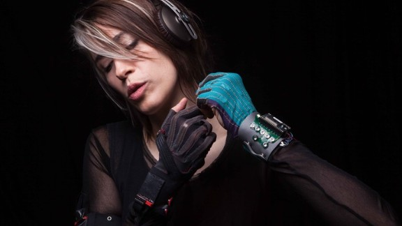 "Singer-songwriter Imogen Heap has performed ethereal versions of her tracks, playing an instrument of her own creation -- housed in a glove. ""I wanted to be able to play the computer as expressively as I can play the piano,"" she says."