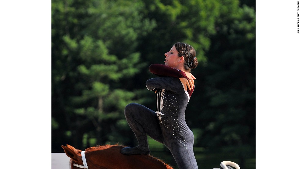 In 2006, U.S. rider Megan Benjamin became the first non-German in vaulting history to win women's gold at the World Equestrian Games.