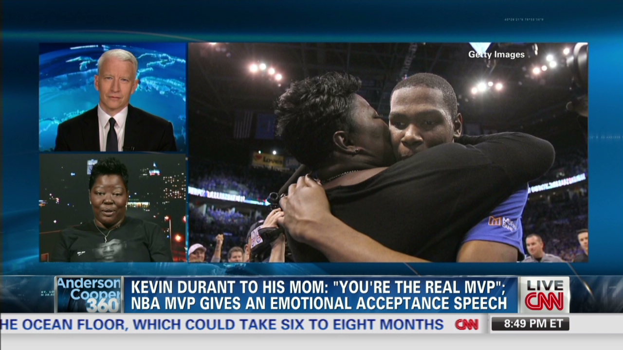 3059870381c Durant in tears  Mom is the  real MVP  - CNN Video
