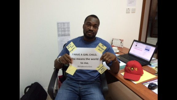 """""""These girls could have been my sisters or worst still my daughter,"""" says Emmanuel Oleabhiele from Doha, Qatar. """"My daughter is 6 months old and I fear for her future as a Nigerian."""""""