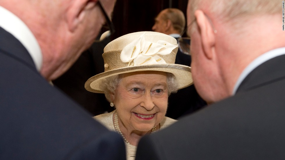 Britain's Queen Elizabeth II is seen during a visit to the Journalists' Charity reception in London on Wednesday, May 7. The Journalists' Charity, celebrating its 150th anniversary, provides charitable help to journalists, former journalists and their dependents.