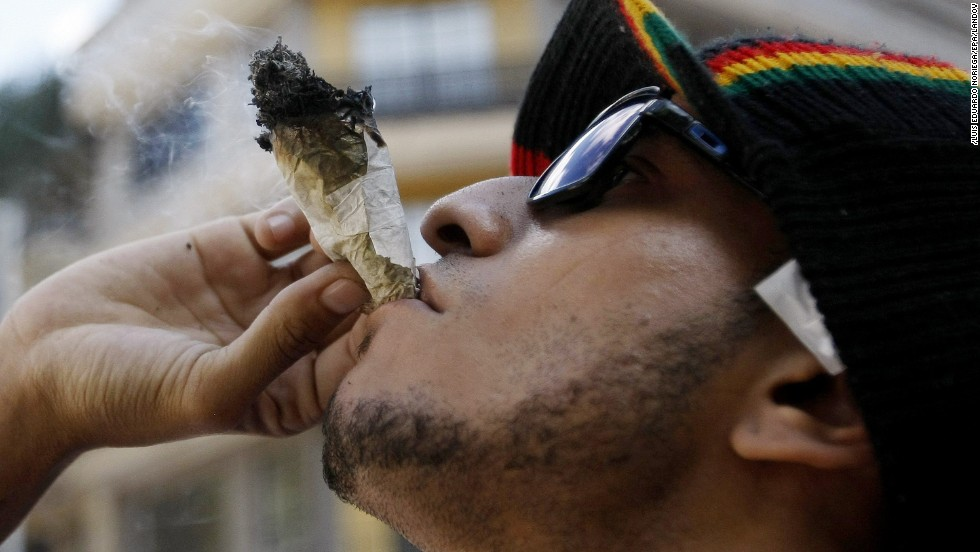 "A man participates in the Global Marijuana March on Saturday, May 3, in Medellin, Colombia. About 250 cities took part in the annual event, which celebrates marijuana and its legalization. <a href=""http://www.cnn.com/2014/05/02/world/gallery/week-in-photos-0502/index.html"">See last week in 34 photos</a>"