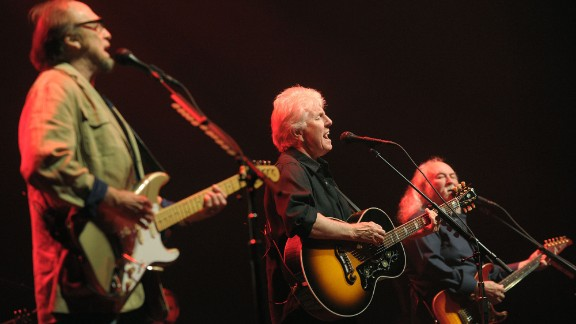 David Crosby, Stephen Stills and Graham Nash came together in the late 1960s and have continually split and reformed through the decades. According to The Rolling Stone Encyclopedia of Rock & Roll, Young had become a respected elder statesman of rock by the 1990s. Nash, meanwhile, had become a successful photographer while Crosby had become ill and received a liver transplant. Here, Crosby, Stills and Nash perform in front of a crowd at the Sands Bethlehem Event Center, in Bethlehem, Pennsylvania, 2012.