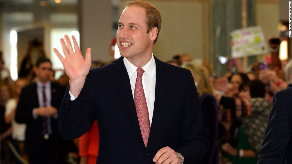 William is holding steady at No. 5 for another year; it gets a royal boost from the Duke of Cambridge, Prince William.