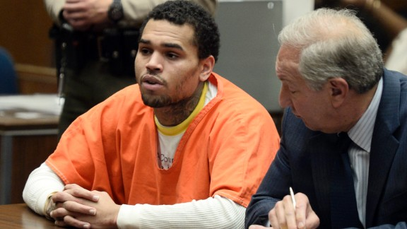 May 2014: Brown appears in court for a probation violation hearing on May 9. He admitted to violating his probation and was ordered by a judge to serve one year in jail.