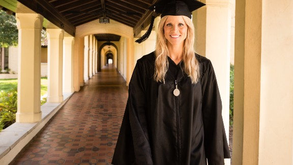 """Elin Nordegren, the ex-wife of Tiger Woods, gave <a href=""""http://www.cnn.com/video/data/2.0/video/us/2014/05/12/bts-tiger-woods-ex-graduation-speech.rollins-college.html"""">a commencement speech at Rollins College</a> after winning the Outstanding Graduating Senior Award from the Hamilton Holt School. """"Education has been the only consistent part of my life the last nine years,"""" she told her fellow grads. """"And it has offered me comfort. Education is one thing that no one can take away from you.""""<br />"""