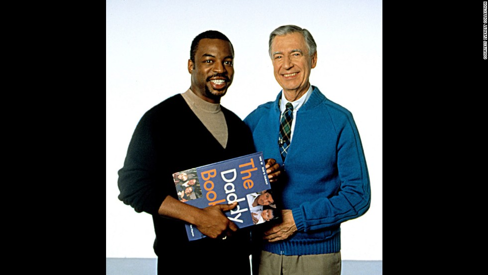 "It was a beautiful day in the neighborhood when the ""Reading Rainbow's"" Burton and Fred Rogers met. Rogers hosted the public television show ""Mister Rogers' Neighborhood"" from 1966 to 2001.<br />"