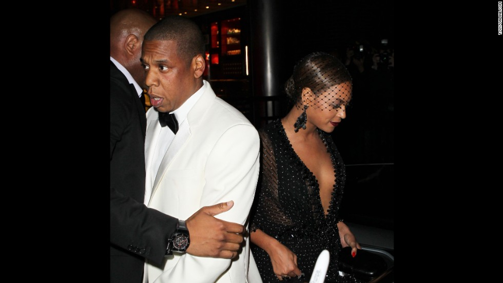 "According to reports, Jay Z and Beyonce, who married in 2008, walked out together but then departed in separate cars. <a href=""http://www.people.com/article/beyonce-left-with-solange-after-sister-fights-with-jayz"" target=""_blank"">An onlooker told People magazine</a> that Jay Z approached the vehicle waiting for his wife and sister-in-law but then hesitated and ""walked down the block and got in a car."""