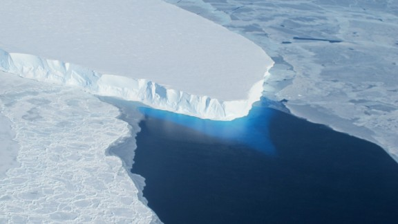 An undated handout photo provided by NASA shows the Thwaites Glacier in the West Antarctic.