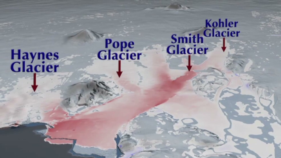 NASA video shows ice melt in Antarctica