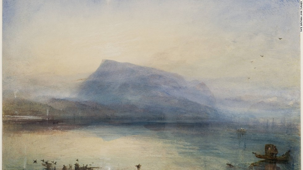 "Some 60% of the 24,000 works that Turner produced were maritime-themed, including ""The Blue Rigi"" from 1841-2."