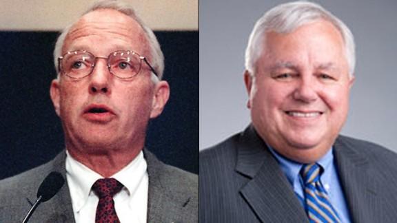 Jim Hall, left, and Peter Goelz