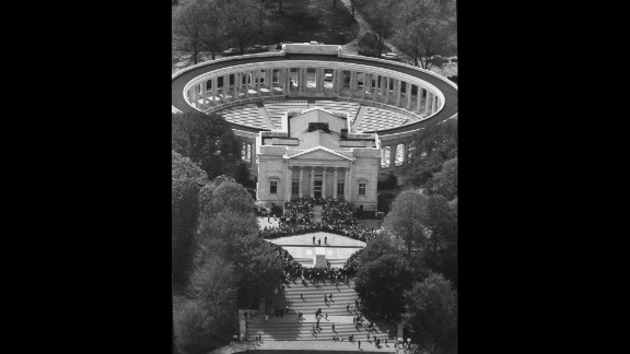 Memorial amphitheater at Arlington National Cemetery in May 1965.