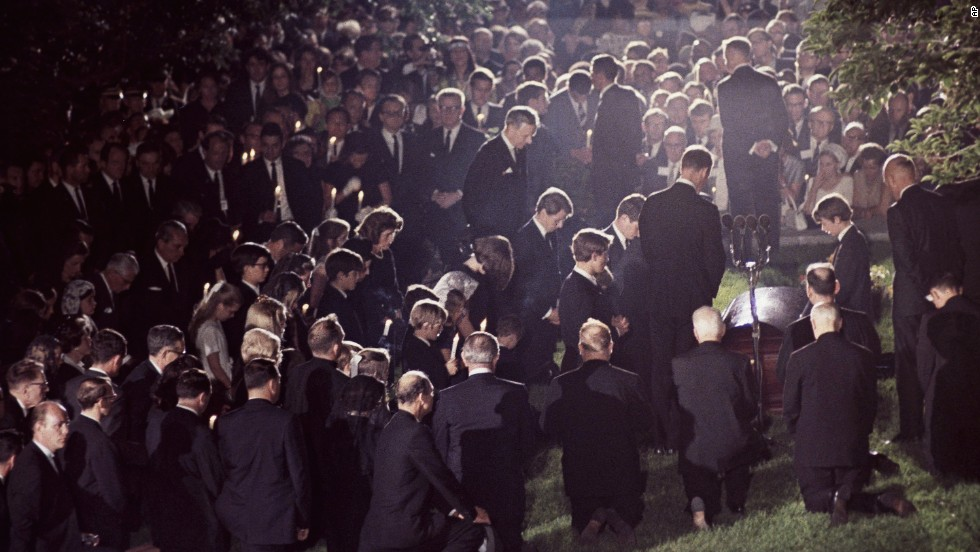 Image result for robert kennedy's burial images