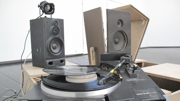 Vinyl Terror and Horror -- real names Camilla Sørensen and Greta Christensen -- have hacked the turntables... to pieces. Their scarred, smashed and restitched vinyl create all types of noise, occasionally interrupted by the vinyl's intended soundtrack.