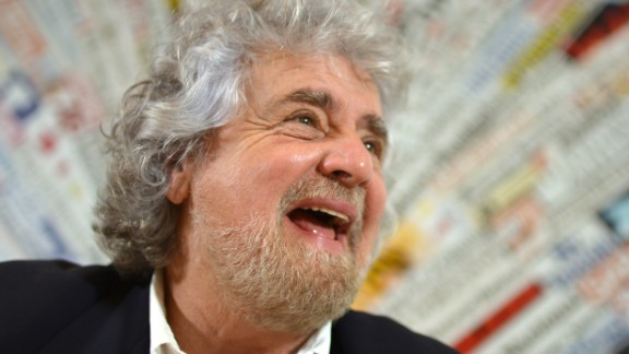Comedian Beppe Grillo founded the Five Star Movement.
