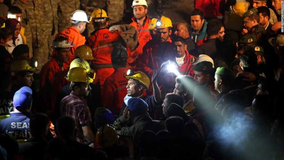 Rescue workers continue their efforts on May 14.