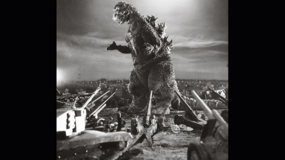 "A publicity photo for 1954's ""Godzilla."""