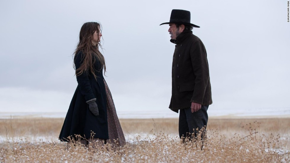 "<strong>""The Homesman"": </strong>Tommy Lee Jones wrote, directed and starred in this drama about a God-fearing pioneer woman who relies on a claim jumper to help her transport three mentally ill women across the treacherous territory from Nebraska to Iowa. Hilary Swank, Grace Gummer and John Lithgow also star."