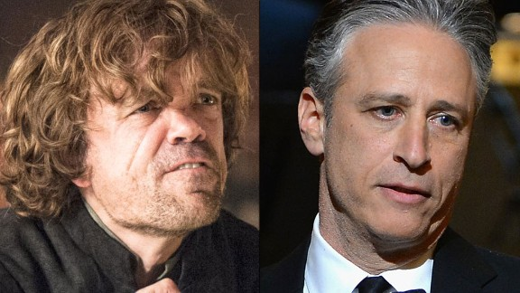"""Tyrion Lannister / Jon Stewart: Both are the court jesters of their time. They are outsiders whose savage wit and bawdy sense of humor conceal a first-rate mind and a willingness to use their verbal combat skills to take on some of the most powerful people and institutions of their day. Tyrion, the so-called """"dwarf"""" on """"Game of Thones,"""" would have made a great late-night host."""