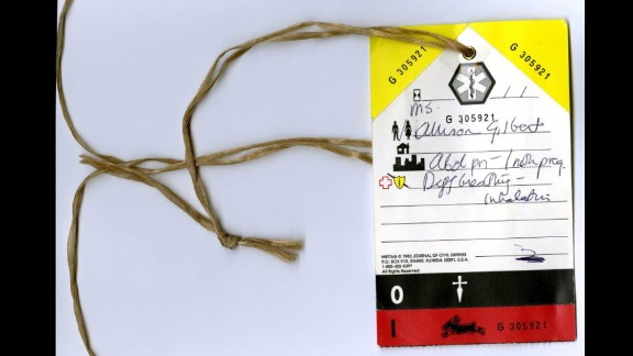 The tag Allison Gilbert wore on her way to the hospital on 9/11 is part of the September 11 Museum's collection of artifacts.