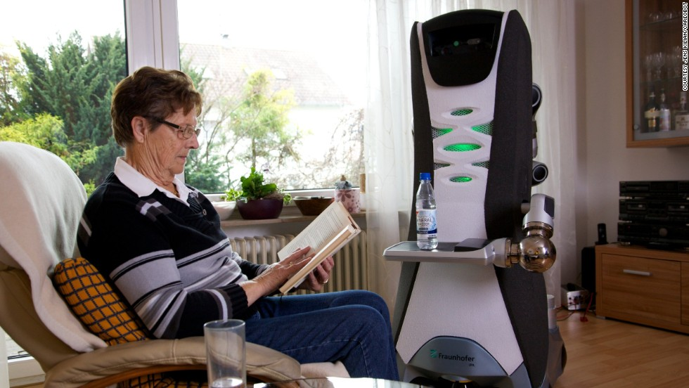 "The Accompany Care O bot is a ""robotic companion"" intended to help elderly people live independent lives."