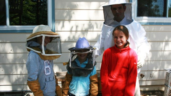 "Beekeeping is a hobby for the Warren family. ""We're not very good at it,"" said Lisa Warren, the girls' mom. But once the girls discovered they could make lip balm and lotion bars from beeswax they collected, they researched recipes and got to work. They are currently working on adding soap to their product line."