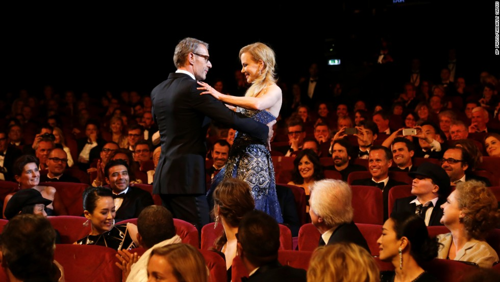 "MAY 14 - CANNES, FRANCE: Actress Nicole Kidman and Master of Ceremonies Lambert Wilson dance during the opening ceremony at the 67th international <a href=""http://cnn.com/2014/05/15/world/europe/opinion-why-should-you-care-about-cannes/index.html"">Cannes Film festival</a> before the screening of ""Grace of Monaco.""<a href=""http://cnn.com/2014/05/15/world/europe/opinion-why-should-you-care-about-cannes/index.html""> </a>"