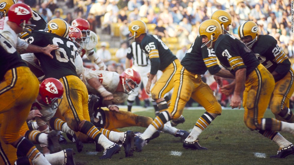 The Green Bay Packers and the Kansas City Chiefs played the first Super Bowl on January 15, 1967, in Los Angeles. The Packers won the football game 35-10.