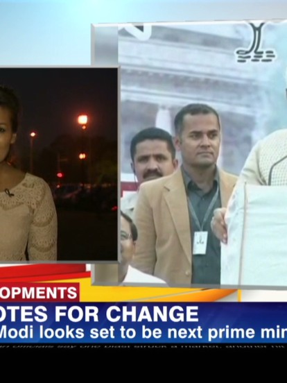 Hindu nationalist Narendra Modi claims victory as India's next Prime Minister