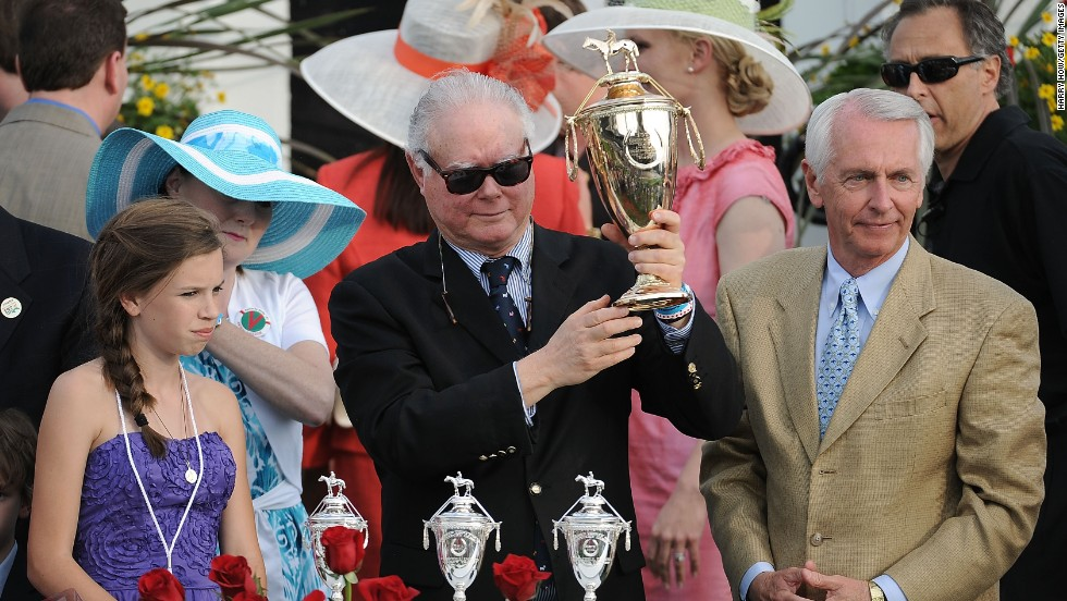 "Team Valor owner Barry Irwin, centre, has an alchemist's touch. Animal Kingdom aside, he bought a Zimbabwe-born horse called Ipi Tombe that once cost $100 but which was later crowned Dubai's Horse of 2003. ""She topped the sale when we sold her at Newmarket in England but when we bought her, she was pure crap,"" he chuckled."