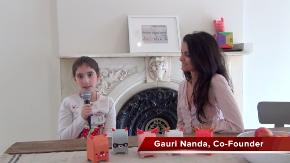 In one of her RethinkToys videos, Leila Kaufman spoke with Gauri Nanda, the founder of Toymail, which allows kids to send and receive message via toy mailboxes.