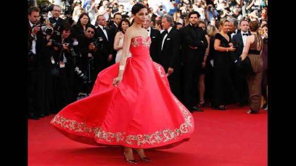 Actress Freida Pinto on Sunday, May 18