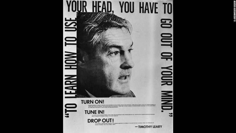 "The drug LSD became popular in the 1960s, leading the U.S. Food and Drug Administration to designate it an experimental drug in 1962. Harvard psychologist Timothy Leary, pictured here, became an advocate for the drug, coining the phrase, ""Turn on, tune in, drop out."""