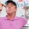 miguel angel jimenez celebrates spain open